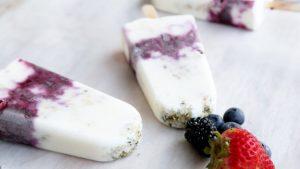 Konopne lody jogurtowe z jagodami, THCLand.pl